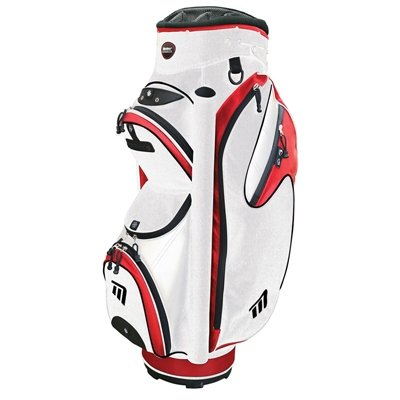 Masters MB-T540 Cart Bag - White/Red, 9.5 Inch