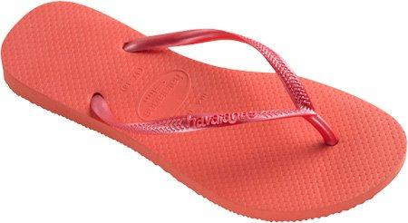 Havaianas Women'S Slim Flip Flop,Salmon,41 Br/11-12 M Us