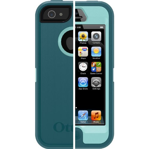Best Price Otterbox Defender Series Case for Apple Iphone 5 - Reflection (Aqua Blue&mineral Blue)