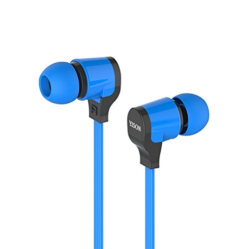 In-Ear Headphones YiSon CX3700 Enhanced Bass In-Ear Headphone with Microphone for iPhone 6, 6 Plus, 5S, 5C, 5, 4S, 4 / iPad 4, 3, 2,1, Mini, Air (Retina Display models) / iPod Touch, Nano, Shuffle, Classic / Samsung Galaxy S5, S4,S3, Note 4, Note 3, Note 2 / Other Android Smartphones - Motorola, Google Nexus, HTC, Sony, Nokia / Tablets &MP3,MP4 Players (3 Different Size Ear Inserts / Retail Packaging),Uses 3.5mm jack (Blue)
