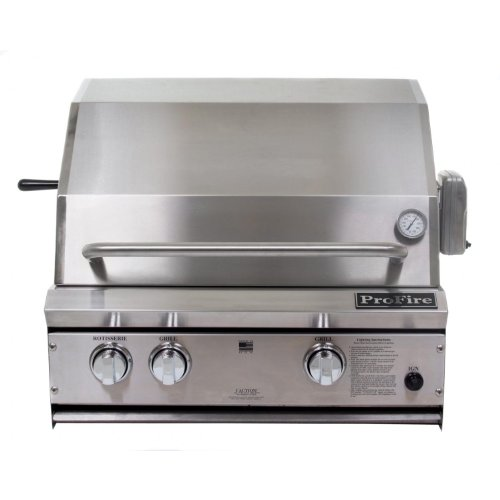 Profire Professional Series 27 Inch Natural Gas Grill With Rotisserie - Built-in