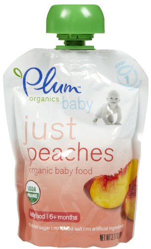 Plum Organics Just Peaches - 6 pk