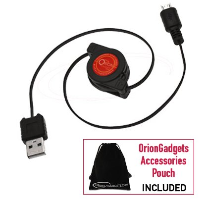 Retractable MultiCharger USB Synch & Charge Travel Kit for Samsung Exhibit 4G travel kit