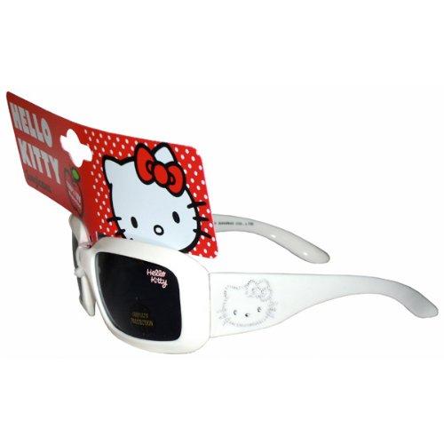 Hello Kitty Girls Dark Pink Diamante Effect Sunglasses