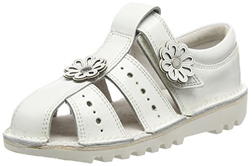 Kickers - Kick San 2 Leather, Infant Girls, Light Pink, Mary Jane Bambina, Bianco (Bianco (White)), 26