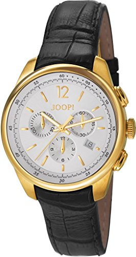 Joop! Hombre-reloj cronógrafo de cuarzo cuero Observer JP101171F05