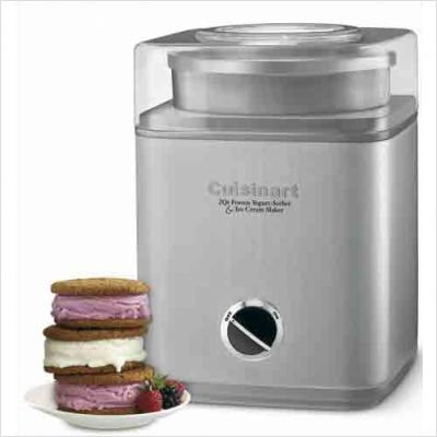 Pure Indulgence 2 Qt. Frozen Yogurt-Sorbet &#038; Ice Cream Maker