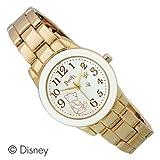 Disney ディズニー くまのプーさん クラシックメタルウォッチ 可愛い腕時計 ゴールド×ホワイト WD-M02-PO