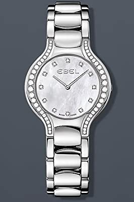 Ebel Beluga Lady Diamond Pearl 30.5 mm Watch - Mother of Pearl Dial, Stainless Steel Bracelet 1215855
