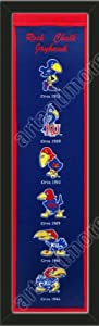 Heritage Banner Of Kansas Jayhawks-Framed Awesome & Beautiful-Must For A... by Art and More, Davenport, IA