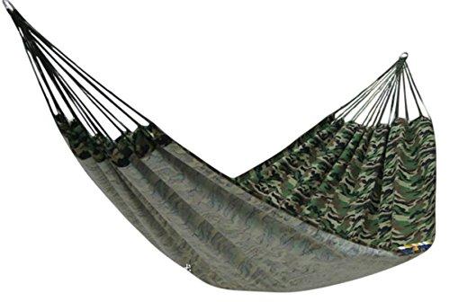 迷彩 ハンモック 2人用 固定 ロープ 付き