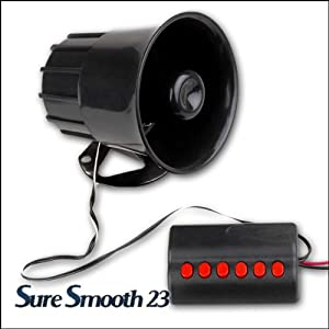 auto alarmanlage alarm sirene lautsprecher 7 melodien 12v auto. Black Bedroom Furniture Sets. Home Design Ideas
