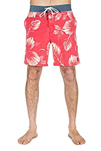 "Rip Curl Tropik 18"" Boardshort Homme Rouge FR : L (Taille Fabricant : 34)"