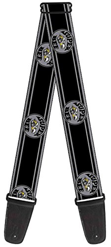 dodge-super-bee-gray-super-bee-logo-guitar-strap