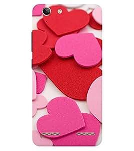 Chiraiyaa Designer Printed Premium Back Cover Case for Lenovo Vibe K5 Plus (heart boy girl friend valentine miss kiss pattern) (Multicolor)