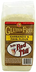 Bob's Red Mill Gluten-Free Garbanzo Fava Flour, 22-Ounce Packages (Pack of 4)