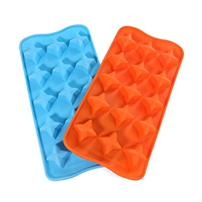 Candy Making Molds, 2PCS YYP [15 Cavity Star Shape Mold] Silicone Candy Molds for Home Baking - Reusable Silicone DIY Baking Molds for Candy, Chocolate or More, Set of 2