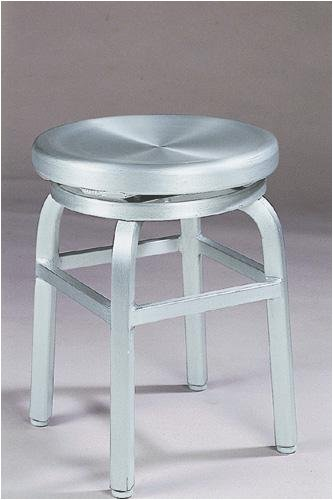 Melanie Swivel Vanity Stool Swivel Brushed Aluminm