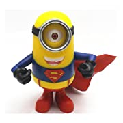 Superman Minions Despicable 2 Me 3D Eyes Model Toys Garage Kits PVC Toys 19cm/7.5inch