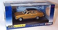 corgi vanguards ford escort MK1 1300E amber gold car 1.43 scale diecast model