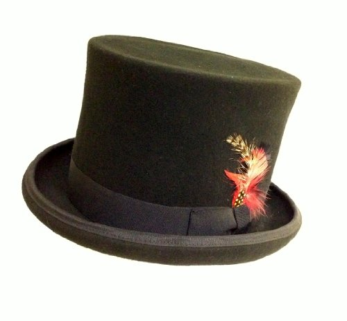 Jacobson Hat Company Wool Felt Bell Top with Satin Lining 7 Inch Tall