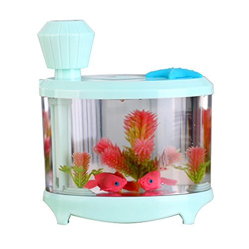 Fish Tank Light Humidifier Night Light Ultrasonic Misting Maker Aquarium, eBerry® USB Ultrasonic Humidifier Air Purifier for your family comfortable (Green) (Humidifier Water Tank Replacement compare prices)