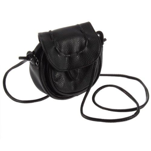 Cool2Day Girls Cute Mini Satchel Cross Body Cosmetic Bag Wallet Purse B010462 (Black)