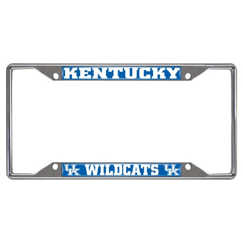 FANMATS NCAA University of Kentucky Wildcats Chrome License Plate Frame (Kentucky Wildcats Car Mats compare prices)
