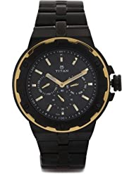 Titan Black Dial Men's Analog Watch - 1654KM05