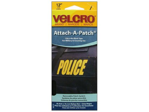 Big Save! VELCRO brand Sew On Attach A Patch 4x 12 Black