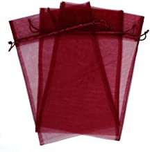 30 Designer Organza Fabric Gift Bags and Gift Pouches Party Gift Bags Red Burgundy 55quot x 9quot