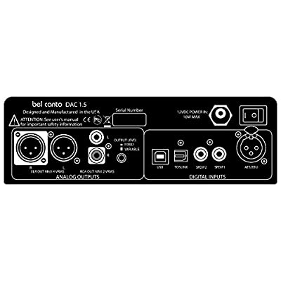 BEL CANTO e.ONE DAC 1.5 DIGITAL TO ANALOG CONVERTER WITH REMOTE CONTROL - SILVER