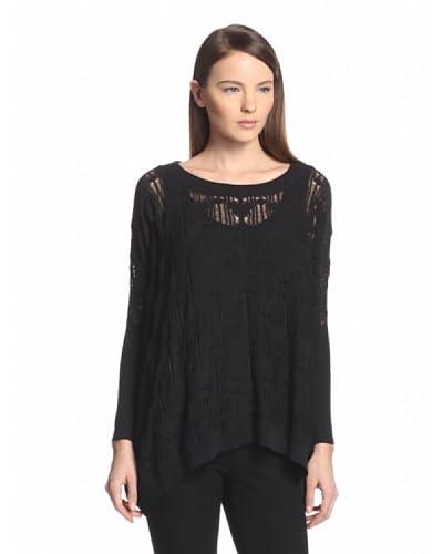 Anna Sui Women's Fine Gauze Lace Sweater