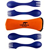 Tapirus Spork2go Spork Set, Four Sporks + Spork Carry Case - Bpa-free Tritan Spoon, Fork & Knife Combo Utensil. Great As Camping Flatware, for Work, College and Any Outdoor Activity