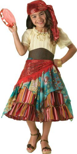 InCharacter Costumes, LLC Girls 2-6X Fortune Teller Dress Set, Multi Color, Child Size 6
