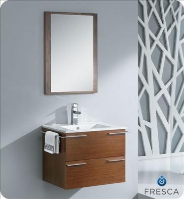 Fresca FVN8114WG Cielo 24 Wenge Brown Modern Bathroom Vanity w/ Mirror