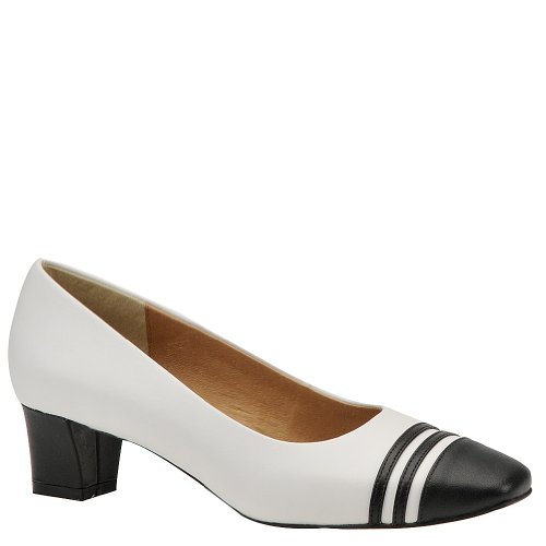 Auditions Classy Womens Size 10.5 White Wide Leather Pumps, Classics Shoes