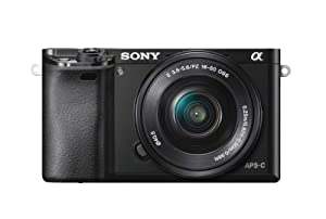 Sony Alpha a6000 24.3 Interchangeable Lens Camera with 16-50mm Power Zoom Lens