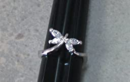 R. S. Covenant Rings 4312 Silver CZ Butterfly Ring Size 7