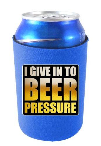 Coolie Junction Beer Pressure Funny Can Coolie Royal Blue front-503857