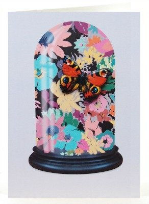 Petra Boase Butterfly Tin Badge Greeting Card - Floral Dome front-798789