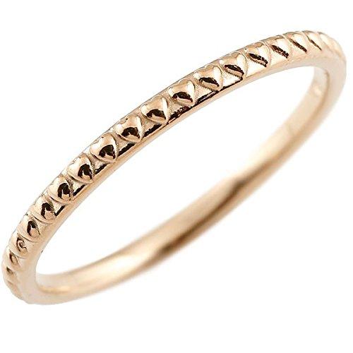 [アトラス] Atrus メンズ リング ピンキーリング ピンクゴールド 18金 指輪 ハンドメイド ハート ストレート アンティーク 地金 まるで着けていない様な着け心地 極細 リング 華奢 ファッションリング 20号