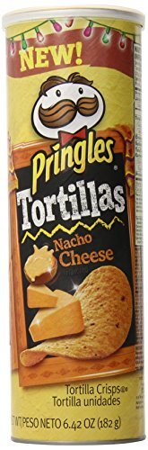 Pringles Tortilla Crisps, Nacho Cheese, 6.41 Ounce (Pack of 14) (Pringles Cheese Chips compare prices)