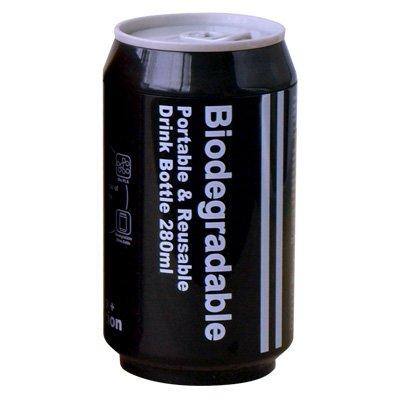 Biodegradable+バイオディグレーダブル+ポータブル+ドリンクボトル+[+ブラック+]