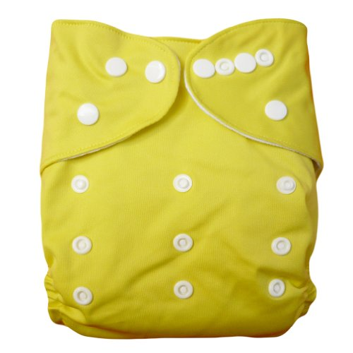 Alva Baby All In Two Pocket Two Rows Of Snaps Cloth Diaper (Banana) B13