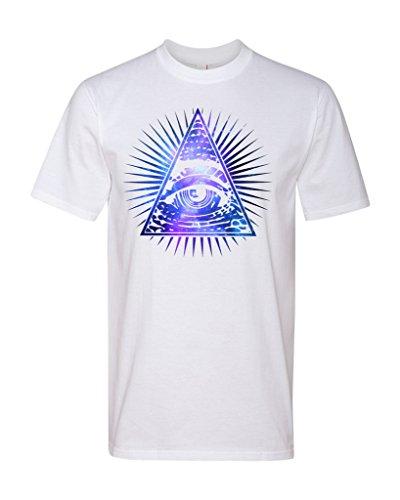 TeeWorlds Galaxy Eye Of Providence – All Seeing Eye Unisex T-Shirt X-Large White