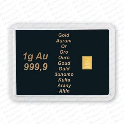 Goldbarren 1g 1 Gramm Motivbox AU 999,9 + Zusatzzertifikat von Securina24®