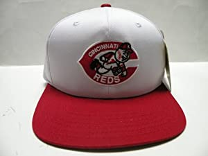 MLB Cincinnati Reds White Red Logo 2 Tone Snapback Cap Retro by American Needle