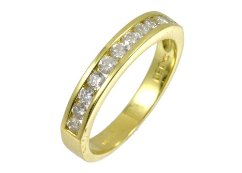 Eternity Ring, 9ct Yellow Gold Diamond Ring, Channel Set, 1/2 Carat Diamond Weight