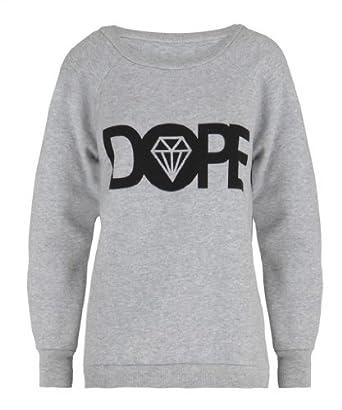 Womens DOPE Diamond Text Slogan Sweater